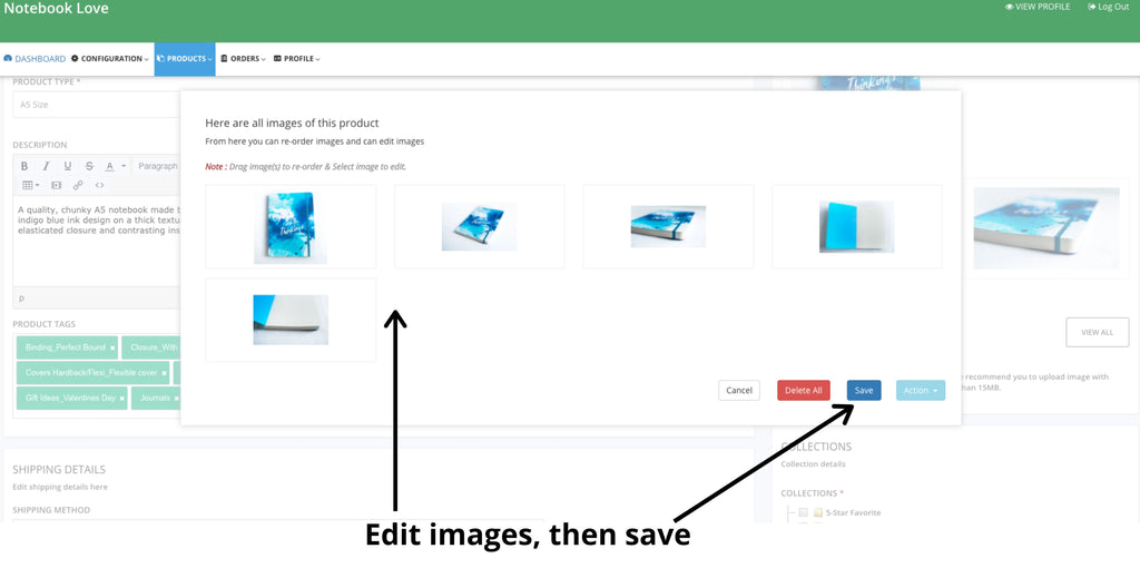 How to fix product images | Notebook Love