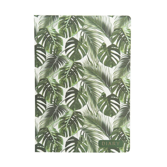 A5 Classic Full Year Diary - Palm Leaf Go Stationery CDA5DIPL20 Notebook Love