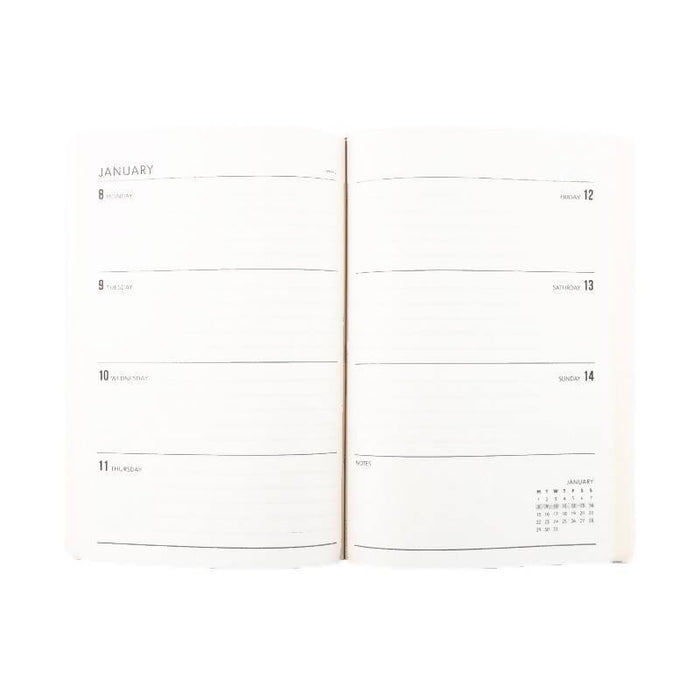 A5 Classic Full Year Diary - Steel Go Stationery CDA5DINA20 Notebook Love