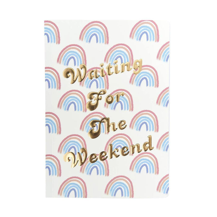 A5 Classic Full Year Diary - Waiting For The Weekend Go Stationery CDA5DIWW20 Notebook Love