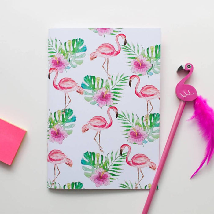 A5 Flamingo Notebook. Set of two A5 Notebooks Dessi Designs DDNLF1 Notebook Love