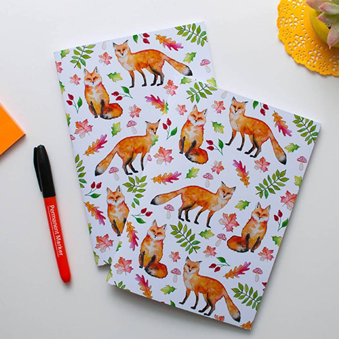 A5 Foxes Notebook. Dessi Designs Notebook Love