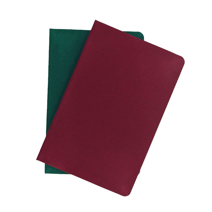 A5 Notebook (Burgundy) - Recycled Carbon Neutral Paper, Fabric Cover, Hardback, Made in The UK Port West Stationers Notebook Love
