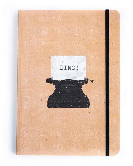 A5 Notebook Love Typewriter Notebook with Elastic Notebook Love 5NBL013 Notebook Love