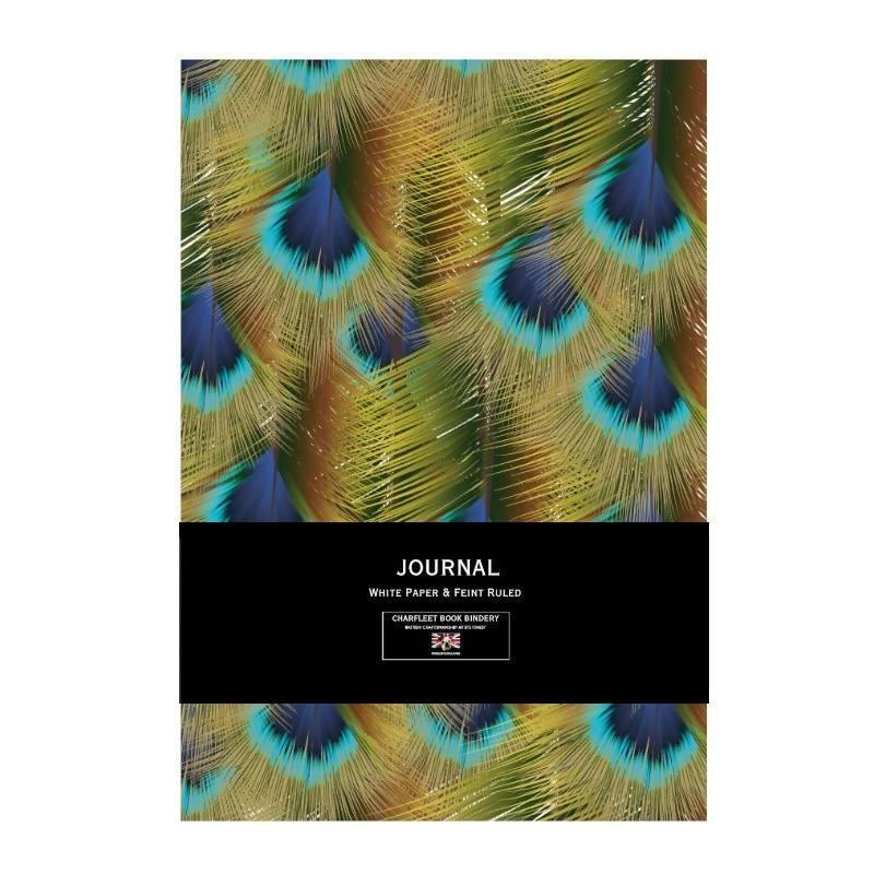 A5 PEACOCK PRINT NOTEBOOK CHARFLEET BOOK BINDERY NB86PRTZEB Notebook Love