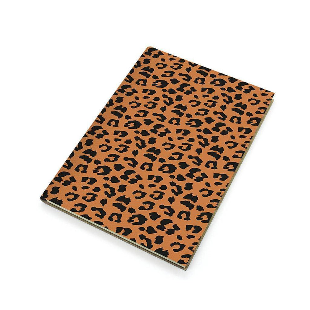 A5 Recycled Leather Notebook - Classic Leopard Print Forever Printworks 617SKUNAV Notebook Love