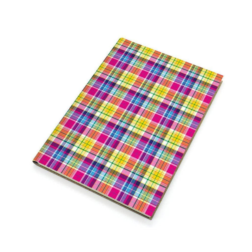 A5 Recycled Leather Notebook - Pink Tartan Forever Printworks 617SKUNAV Notebook Love