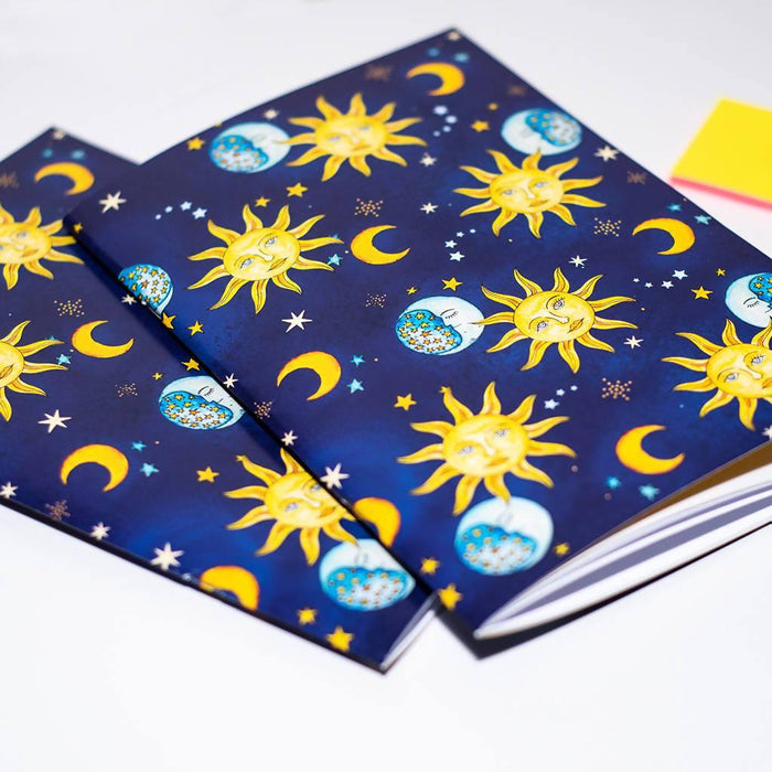 A5 Vintage Celestial Notebook. Set of two A5 Notebooks Dessi Designs Notebook Love