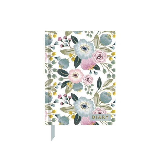 A6 Classic Full Year Diary - Floral Bouquet Go Stationery CDA6DIFB20 Notebook Love