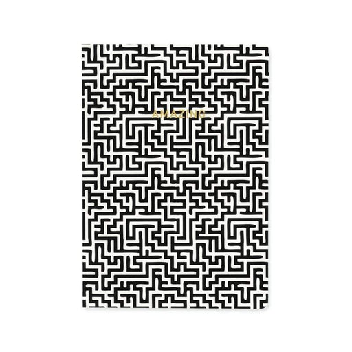 Amazing Monochrome Maze A5 Notebook Notebook Love 5PN501A Notebook Love