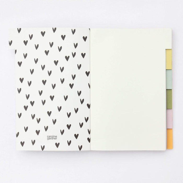 Be The Rainbow A5 Notebook by Caroline Gardner Notebook Love MLT105 Notebook Love