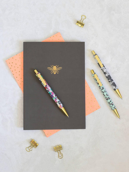 Bee and Coral Spots Set of 2 Slim Notebooks by Sky and Miller Notebook Love SM1906B Notebook Love