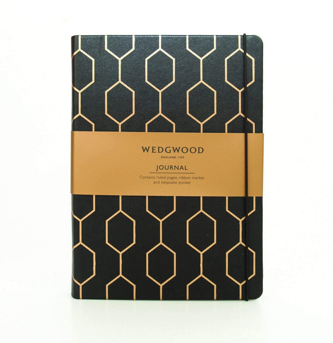 Black and Gold Wedgwood Hardback A5 Journal with Elastic Notebook Love PWWA03 Notebook Love