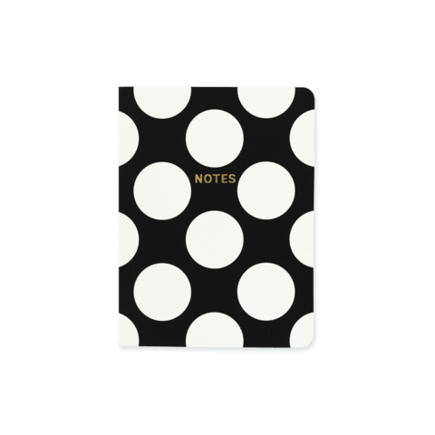 Black and White Polka Dots Chunky A6 Notebook Notebook Love 6PN501A Notebook Love