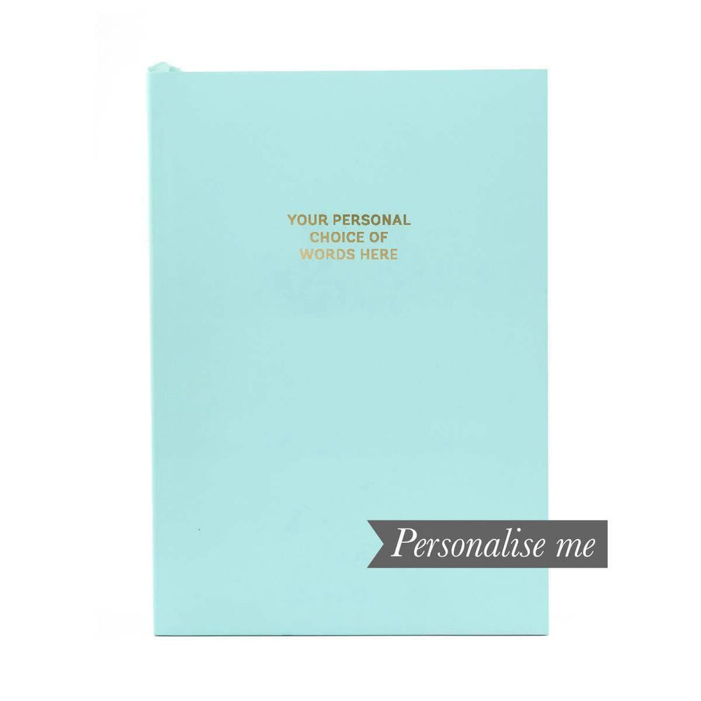 Colourblock A5 Personalised Notebook - Aqua Go Stationery CBA5NBAO20P Notebook Love