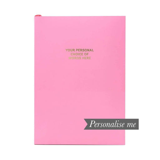 Colourblock A5 Personalised Notebook - Candy Pink Go Stationery CBA5NBCP20P Notebook Love