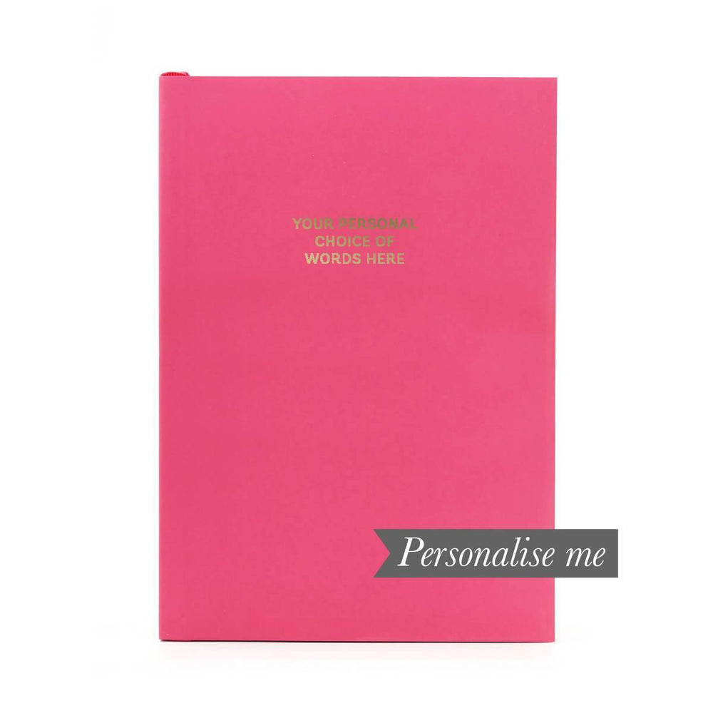 Colourblock A5 Personalised Notebook - Cerise Pink Go Stationery CBA5NBCE20P Notebook Love