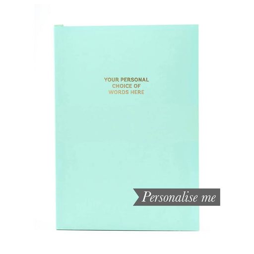 Colourblock A5 Personalised Notebook - Neo Mint Go Stationery CBA5NBNE20P Notebook Love
