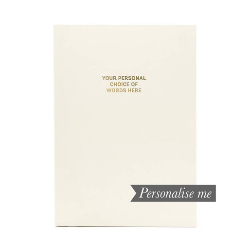 Colourblock A5 Personalised Notebook - Paper White Go Stationery CBA5NBWH20P Notebook Love