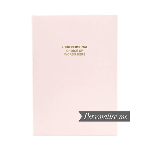 Colourblock A5 Personalised Notebook - Pink Champagne Go Stationery CBA5NBPC20P Notebook Love