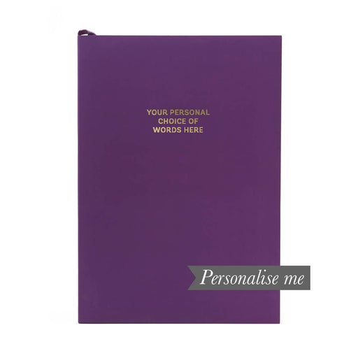 Colourblock A5 Personalised Notebook - Rich Plum Go Stationery CBA5NBRP20P Notebook Love