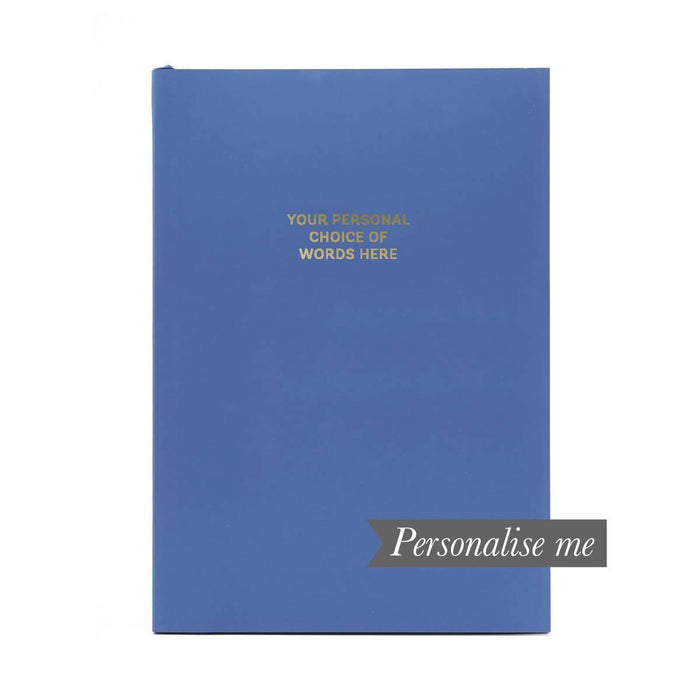 Colourblock A5 Personalised Notebook - Royal Blue Go Stationery CBA5NBRO20P Notebook Love