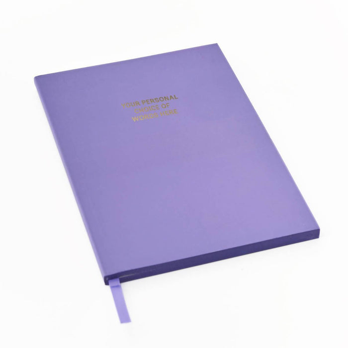 Colourblock A5 Personalised Notebook - Sweet Violet Go Stationery CBA5NBSV20P Notebook Love