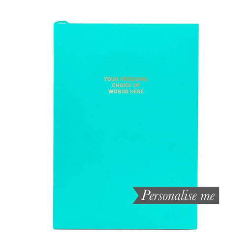 Colourblock A5 Personalised Notebook - Teal Go Stationery CBA5NBTE20P Notebook Love