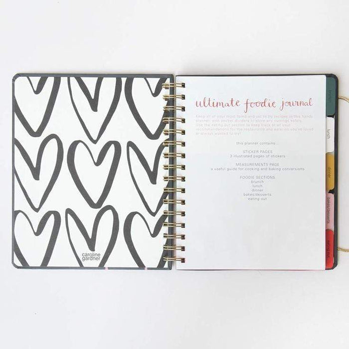 Food and Recipe Journal from Caroline Gardner. Cook, Eat, Share, Keep. Notebook Love FOD100 Notebook Love