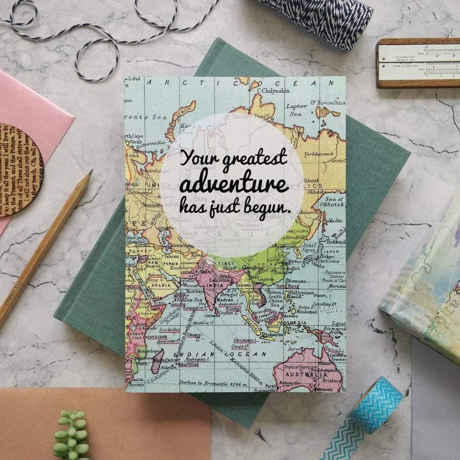 Greatest Adventure A5 Wedding Planner and Honeymoon Notebook Bookishly Notebook Love