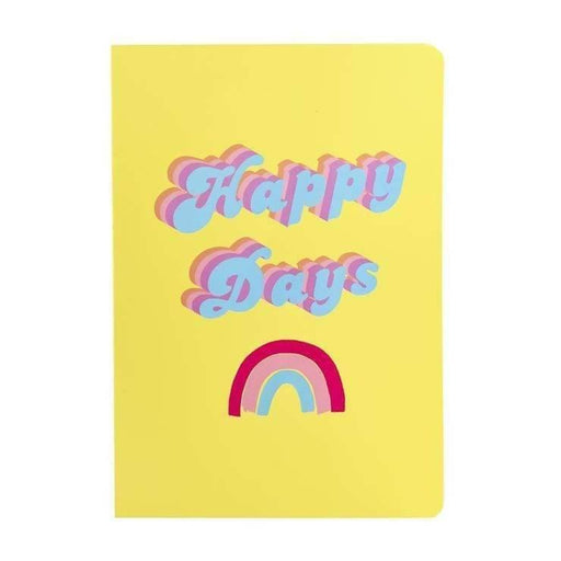 Happy Days Rainbow A5 Notebook Go Stationery SLA5NBHD20 Notebook Love