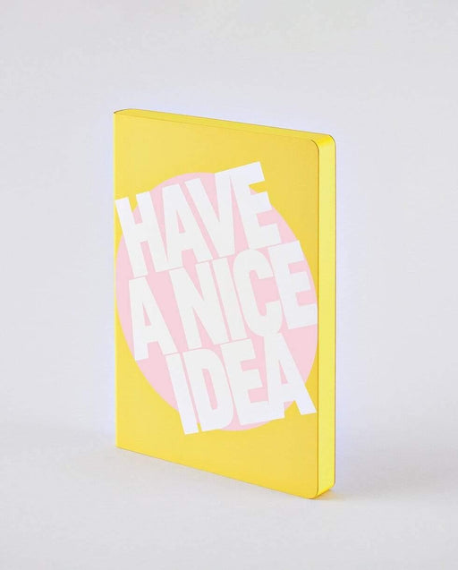 Have A Nice Idea A5 Chunky Nuuna Yellow Leather Dot Grid Notebook Notebook Love Notebook Love