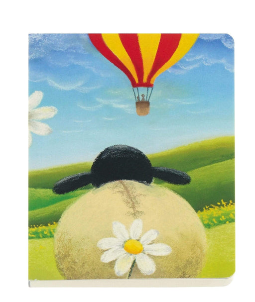 Hot Air Balloon Yorkshire Sheep A6 Notebook Notebook Love 6PNC436 Notebook Love