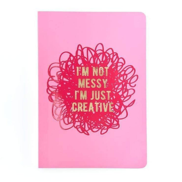 I'm Not Messy I'm Just Creative A5 Notebook Go Stationery SLA5NBJC20 Notebook Love