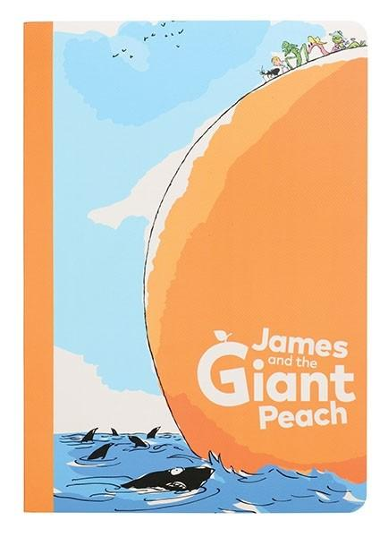 James and the Giant Peach by Roald Dahl. Set of 2 A5 Exercise Books Notebook Love JAM05 Notebook Love