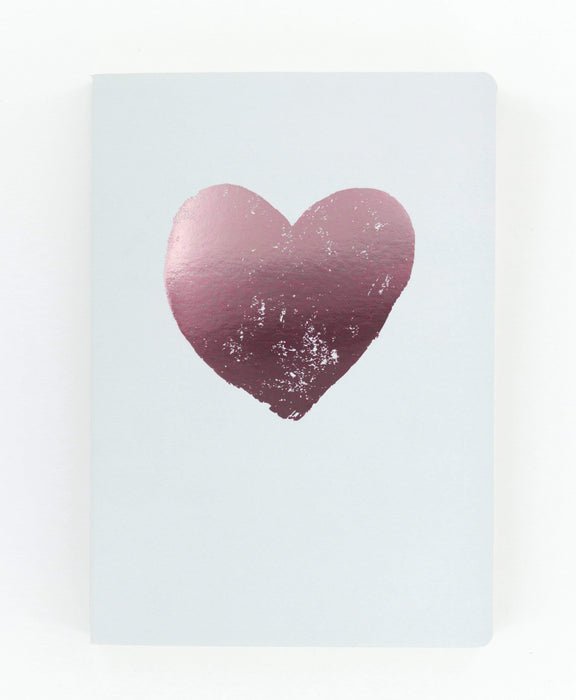 Metallic Pink Heart A5 Notebook Notebook Love 5PN510B Notebook Love