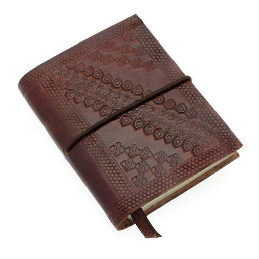 Mini Embossed Brown Leather Fairtrade Notebook Notebook Love Notebook Love
