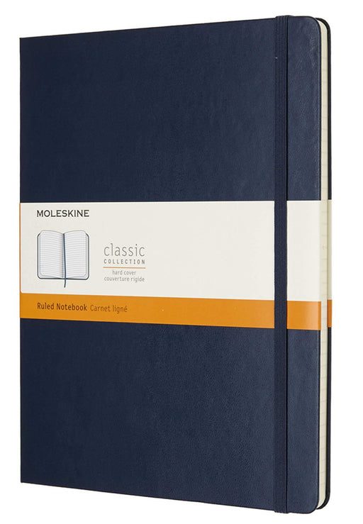 Moleskine, A4 Notebook Lined Pages, Hard Cover with Elastic, Sapphire Blue Notebook Love B01K03DAXK Notebook Love