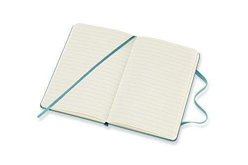Moleskine, A6 Notebook, Lined Pages, Hard Cover with Elastic, Reef Blue Notebook Love B075ZDV43T Notebook Love