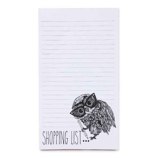 Oobli Owl Shopping List - List Pad Ink Inc Notebook Love