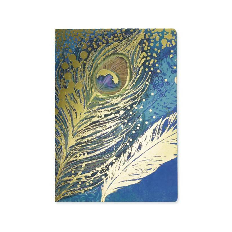 Opium A5 Notebook - Peacock Go Stationery 5PNPEA Notebook Love
