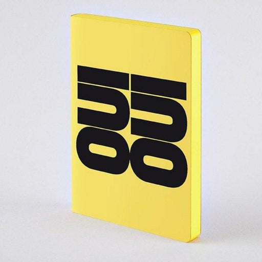 Oui Oui A5 Chunky Nuuna Yellow Leather Dot Grid Notebook Notebook Love N-54389 Notebook Love