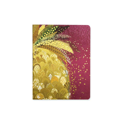 Posh Pineapple. Gold and Pink A6 Notebook Notebook Love 6PNPIN Notebook Love