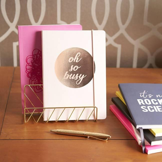 Slogan A5 Notebook - Oh So Busy Go Stationery SLA5NBSB20 Notebook Love