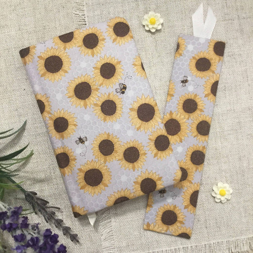 Sunflowers A6 Fabric Covered Notebook Little Bun Designs UK Notebook Love