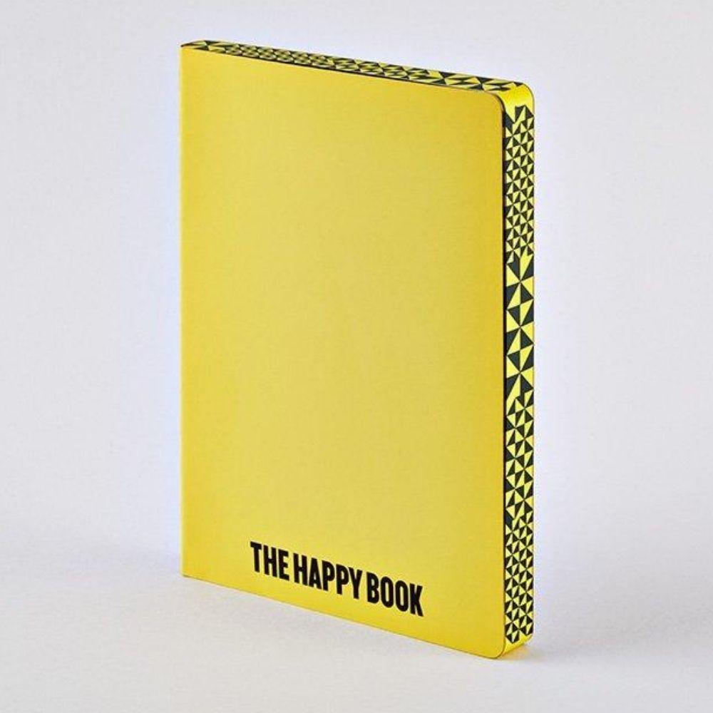 The Happy Book A5 Chunky Nuuna Yellow Leather Dot Grid Notebook Notebook Love N-53375 Notebook Love