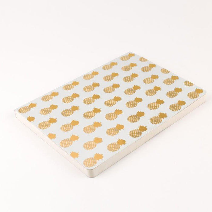 White and Gold Pineapples A5 Notebook Notebook Love 5PN510E Notebook Love