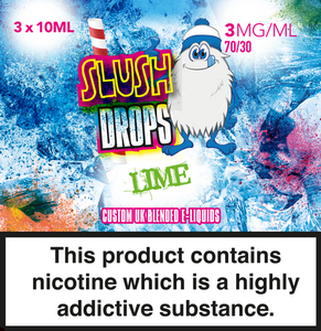 Only Vapes stocks 100's of premium quality eliquids, including the full Slush Drops range of vape e-liquids which are available on next day delivery.