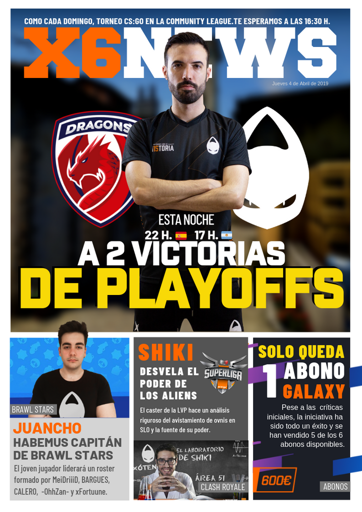 x6News · A 2 victorias de Playoffs