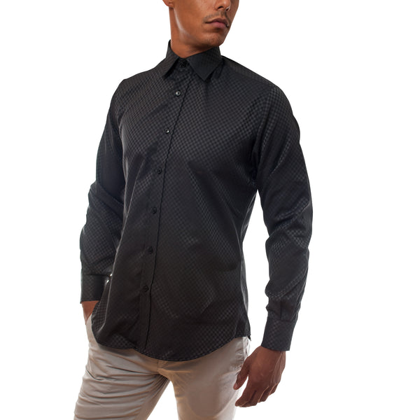 Men Black Dress Shirt